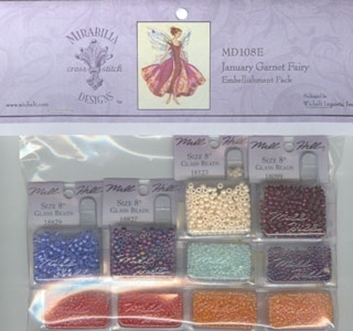 Embellishment Pack January's Garnet Fairy