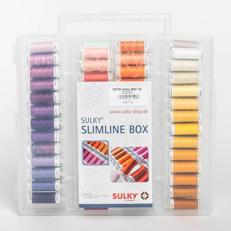 Sulky Cotton Petites Slimline Fylld box
