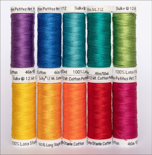 Sulky Cotton Petites 10-pack COLOUR WHEEL