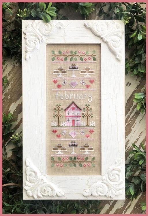 February Sampler - Country Cottage Needleworks