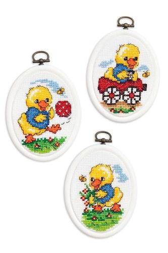Flexitavlor lekande kycklingar 3-pack - 270053