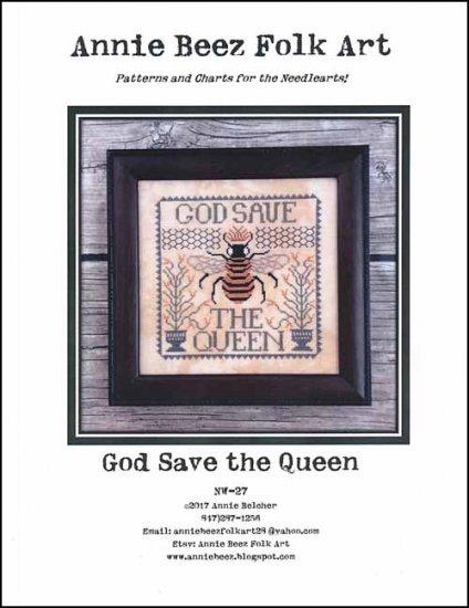 Annie Beez Folk Art- God Save The Queen