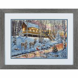 Dimensions Gold  - Winter Cabin