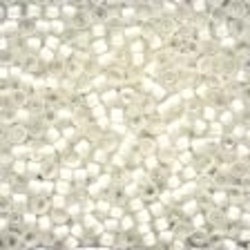 Frosted Glass Beads 60479 White
