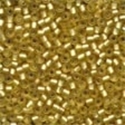 Frosted Glass Beads 62031 Gold