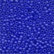 Frosted Glass Beads 60020 Royal Blue