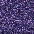 Frosted Glass Beads 62042 Royal Purple