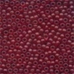 Frosted Glass Beads 62032 Cranberry