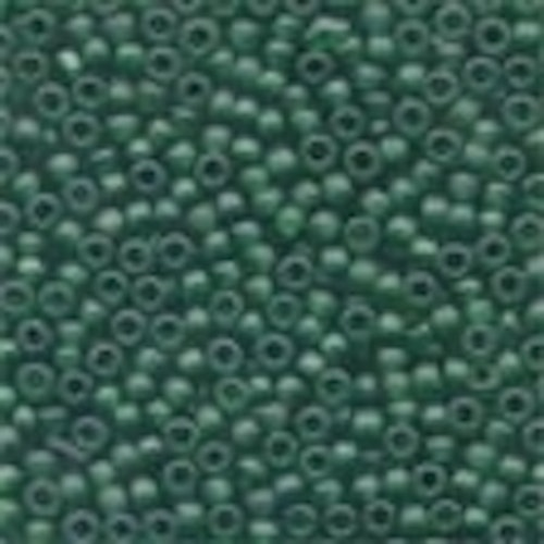 Frosted Glass Beads 62020 Creme De Mint