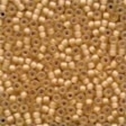 Frosted Glass Beads 62040 Apricot