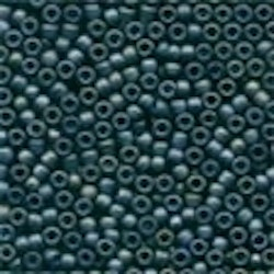 Frosted Glass Beads 62021 Gunmetal