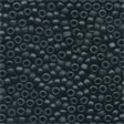 Frosted Glass Beads 62014 Black