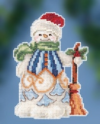 Mill Hill - Clean Sweep Snowman by Jim Shore (2020)
