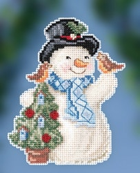 Mill Hill - Feathered Friends Snowman by Jim Shore (2020)