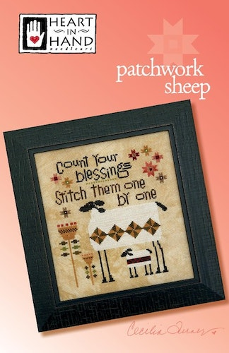 Patchwork Sheep - Heart in Hand