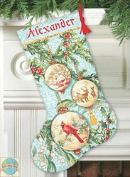 Dimensions Gold  - Enchanted Ornaments Stocking