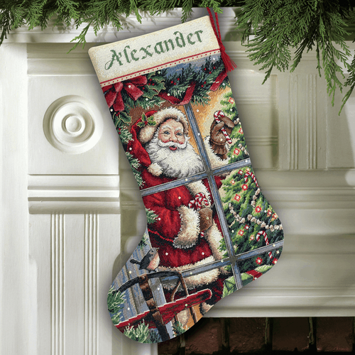 Dimensions Gold  - Candy Cane Santa Stocking