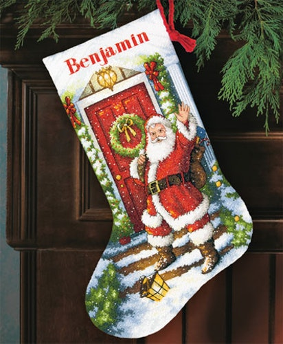 Dimensions Gold  - Welcome Santa Stocking