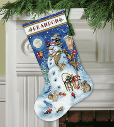Dimensions Gold  - Snowman & Friends Stocking