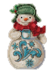 Mill Hill - Snowman with Cocoa by Jim Shore (2021)