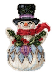 Mill Hill - Snowman with Holly by Jim Shore (2021)