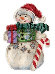 Mill Hill - Snowman with Candy Cane by Jim Shore (2021)