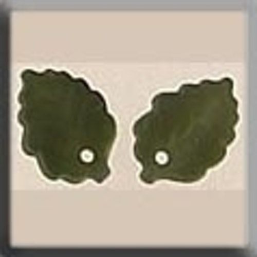 Glass Treasures 12144 Medium Leaf Matte Olive