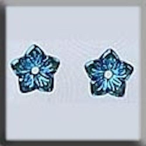 Glass Treasures 12223 Jasmine Flower Light Sapphire