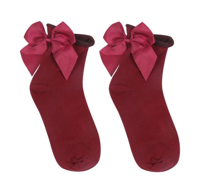 Strumpor - Cute Bow - röd