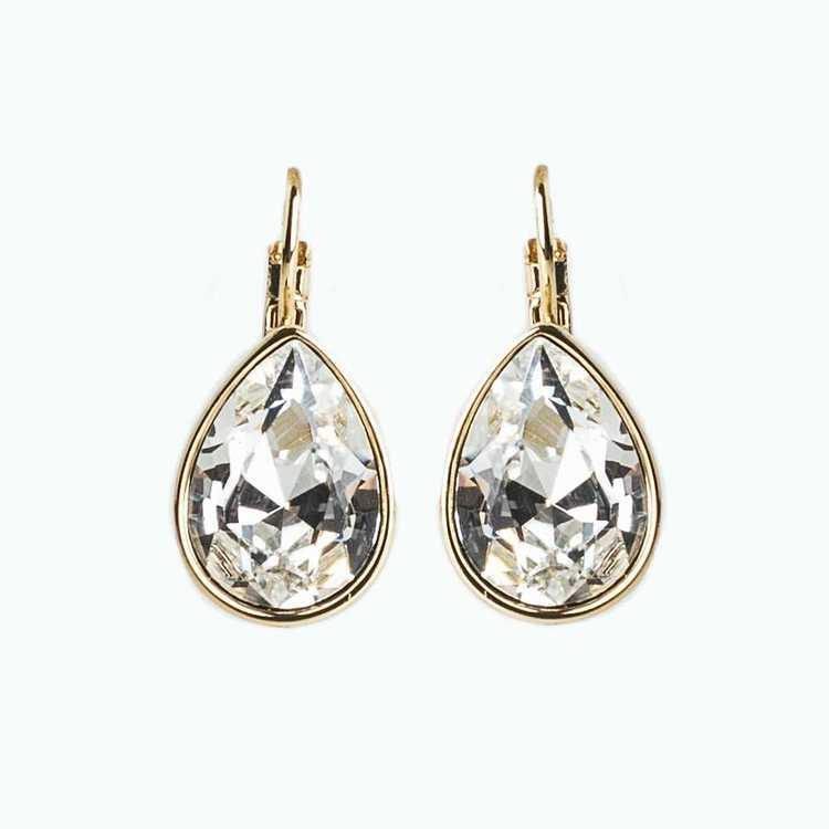 Örhängen - Glam Teardrop - Crystal Gold