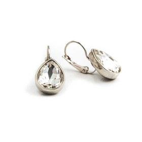 Örhängen - Glam Teardrop - Crystal Silver