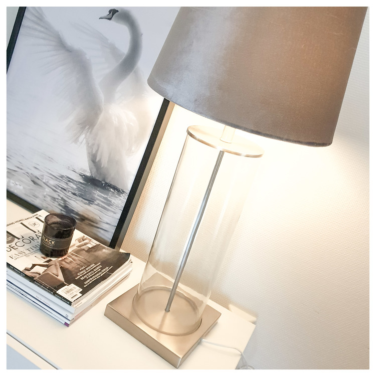 LAMPFOT - GLASSY - silver