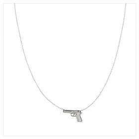 Halsband - Gun - Silver