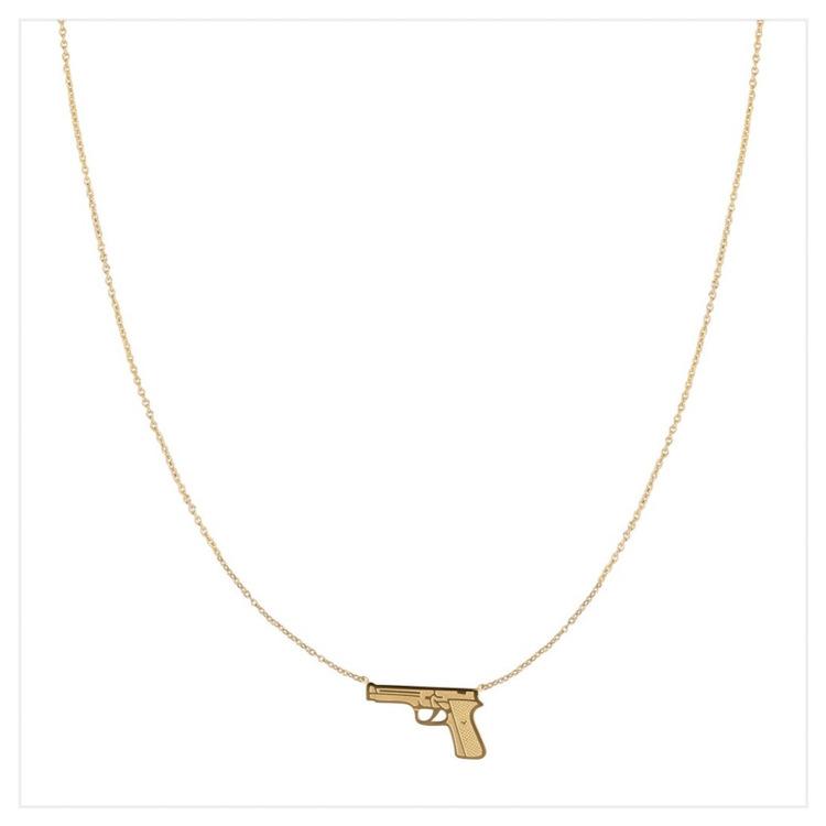 Halsband - Gun - Gold