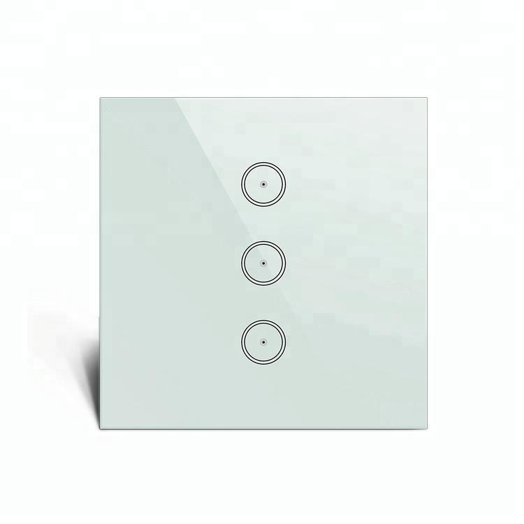 Febite Smarta tryckknapp i härdat glas, 3-polig