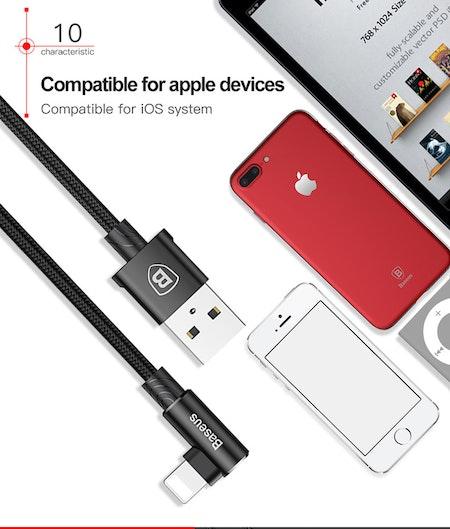 Baseus Elbow Laddningskabel iPhone Lightning