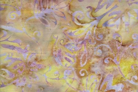 Brun & gul med lila tryck.