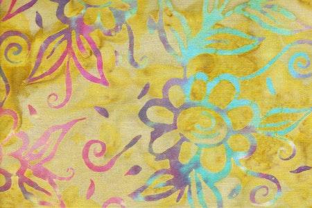 Limegrön med flerfärgat tryck