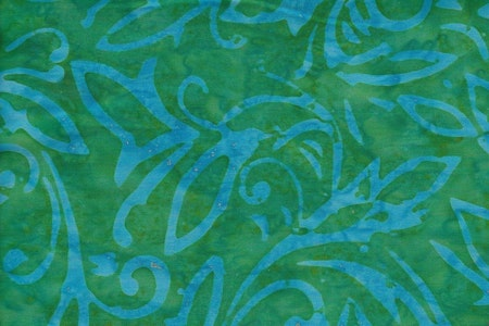 Grön med blått tryck