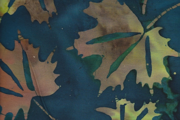 Blue-green & brownish maple leaves