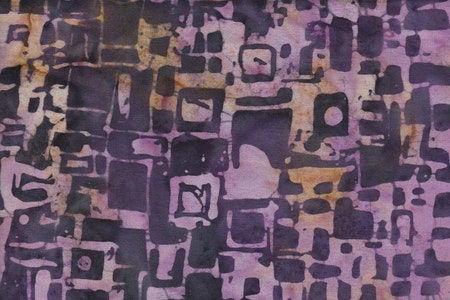 Dark purple with pinkish yellow print