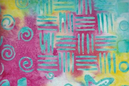 Pastell flerfärgad med tryck