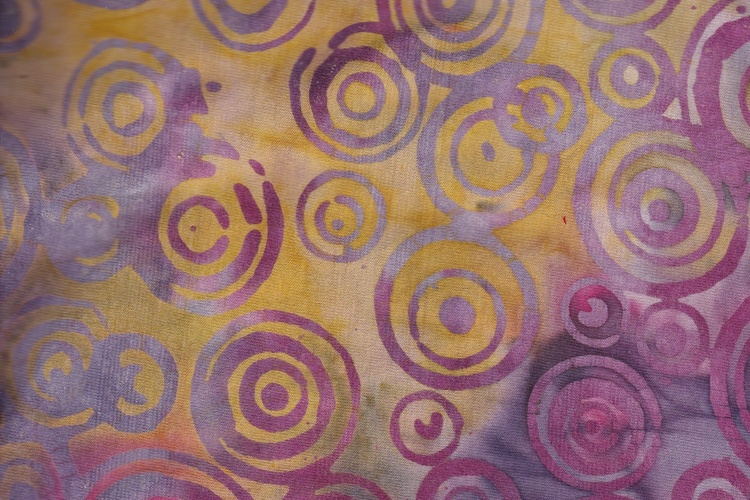 Purple and yellow bottom with print