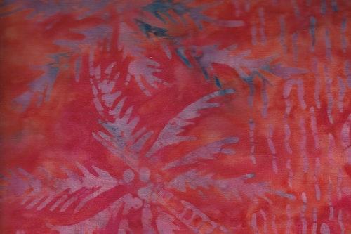 Orange med lila tryck