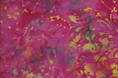 Rosa med gulgrönt tryck