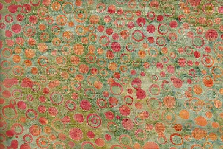 Green with orange circles. 125 cm wide