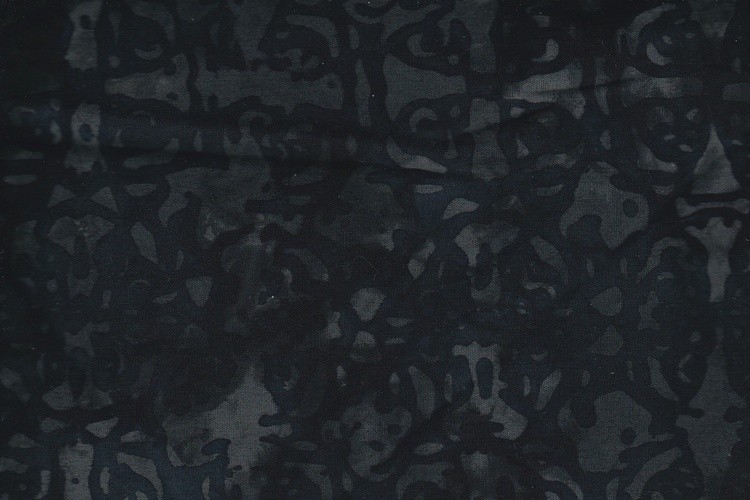 Black with print. Viscose. 140 cm wide
