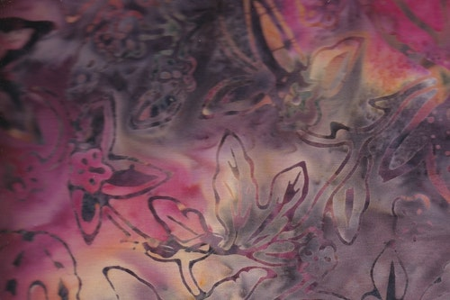 Flerfärgad med tryck. Viskos. 140 cm bred