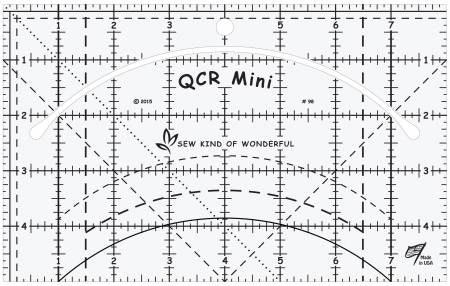 Mini Quick Curve Ruler QCR från Sew Kind of Wonderful