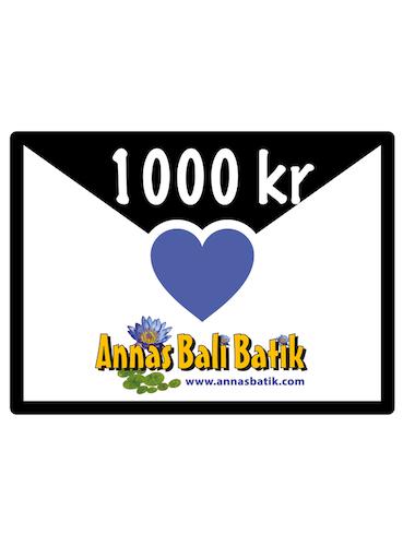 Gift certificate 1000 SEK